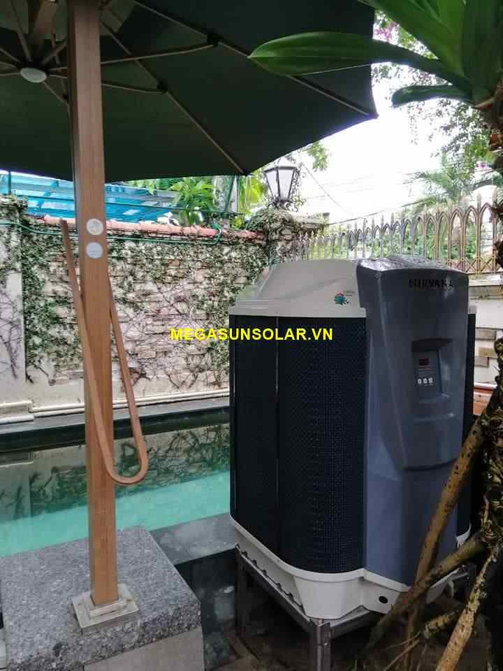 Heat Pump Nirvana N116 làm nóng nước cho bể bơi