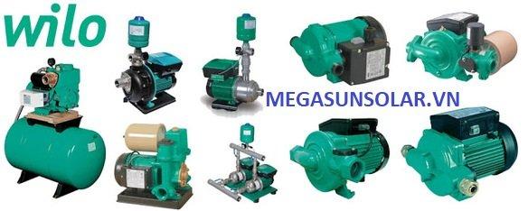 Các loại model bơm nước Wilo Megasun đang phân phối