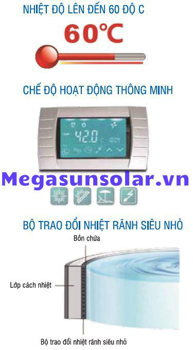 Hệ điều khiển bơm nhiệt bình tích hợp MGS2.5-200 all in one