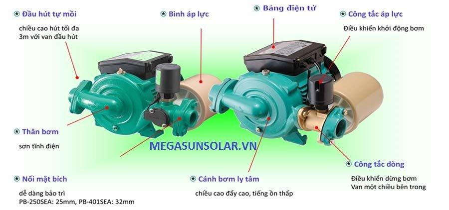máy bơm tăng áp điện tử tích hợp bình tích áp Wilo PB-401SEA
