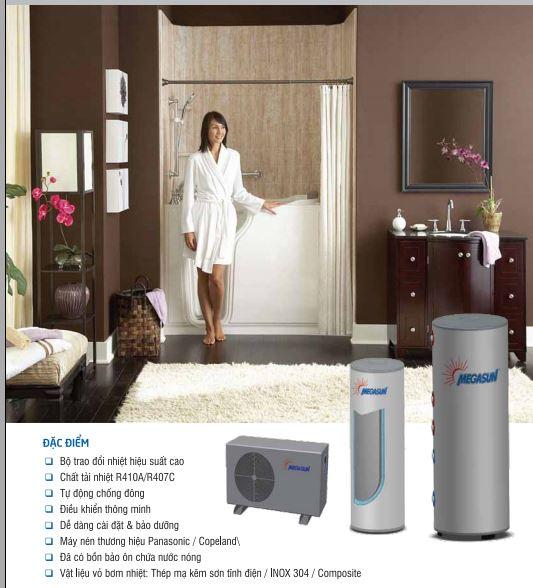 máy nước nóng bơm nhiệt megsun mgs-2hp-500l