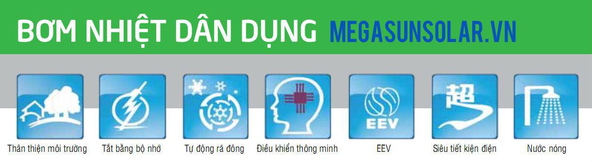 bơm nhiệt dân dụng MEGASUN