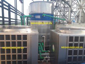 Hệ nước nóng trung tâm bơm nhiệt heat pump Megasun MGS-6HP