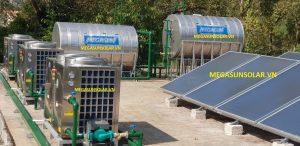 Hệ thống nước nóng bơm nhiệt Megasun kết hợp năng lượng mặt trời