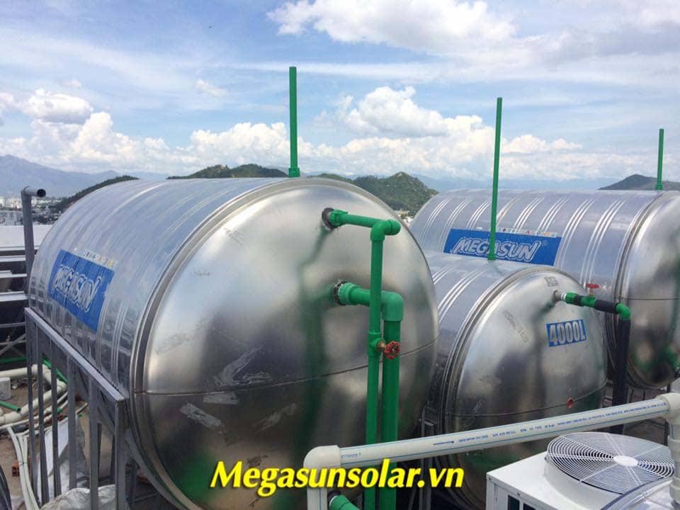 bồn bảo ôn Megasun trong hệ thống nước nóng trung tâm