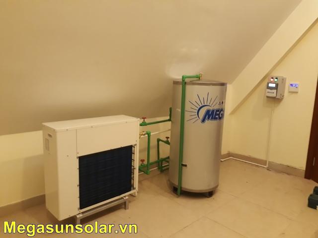 Máy nước nóng bơm nhiệt gia đình megasun 200 lít