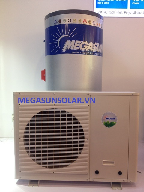 Máy nước nóng bơm nhiệt MGS-1.5HP-300L kết hợp bồn bảo ôn 400L