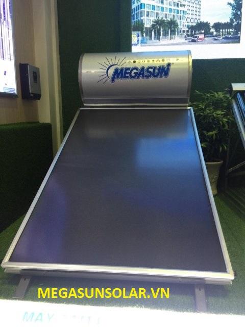 Máy nước nóng năng lượng mặt trời tấm phẳng Megasun kết hợp cùng máy nước nóng bơm nhiệt MGS-1.5HP