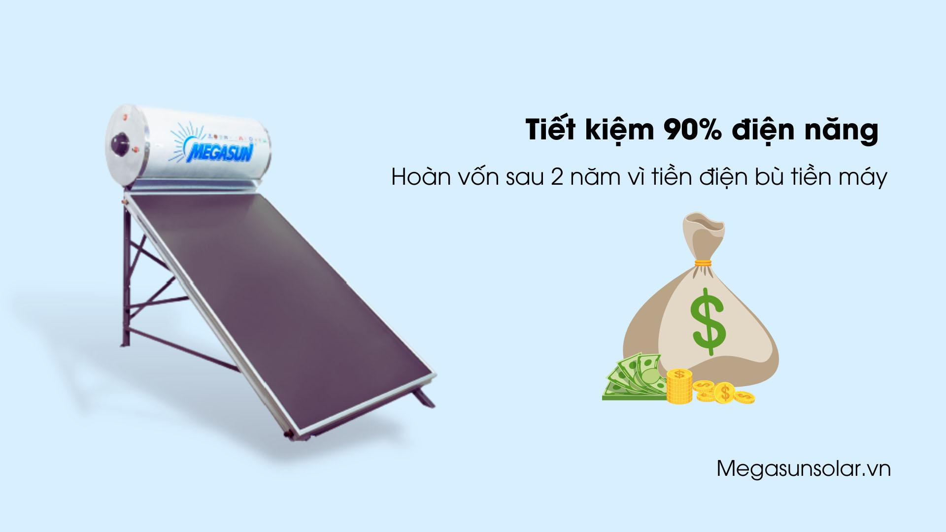 Máy nước nóng tấm phẳng năng lượng mặt trời Megasun