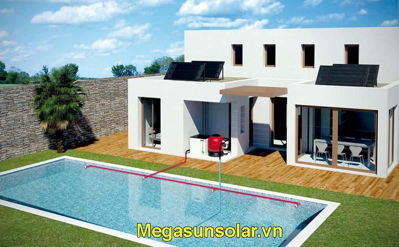 Thiết bị làm nóng nước bể bơi Megasun MGS-5HP-S