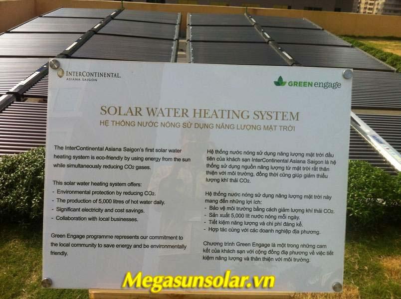 Giấy chứng nhận hệ thống máy nước nóng năng lượng mặt trời Megasun