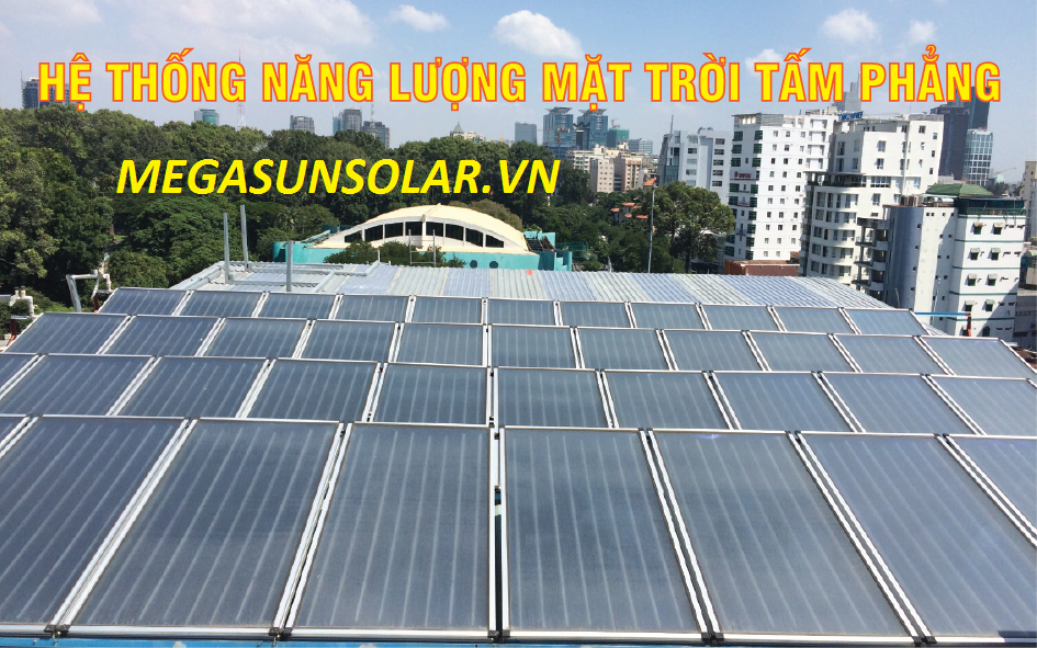 Máy nước nóng năng lượng mặt trời cho khách sạn Megasun