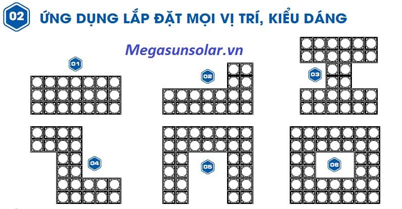 Ứng dụng lắp đặt bể lắp ghép Megasun