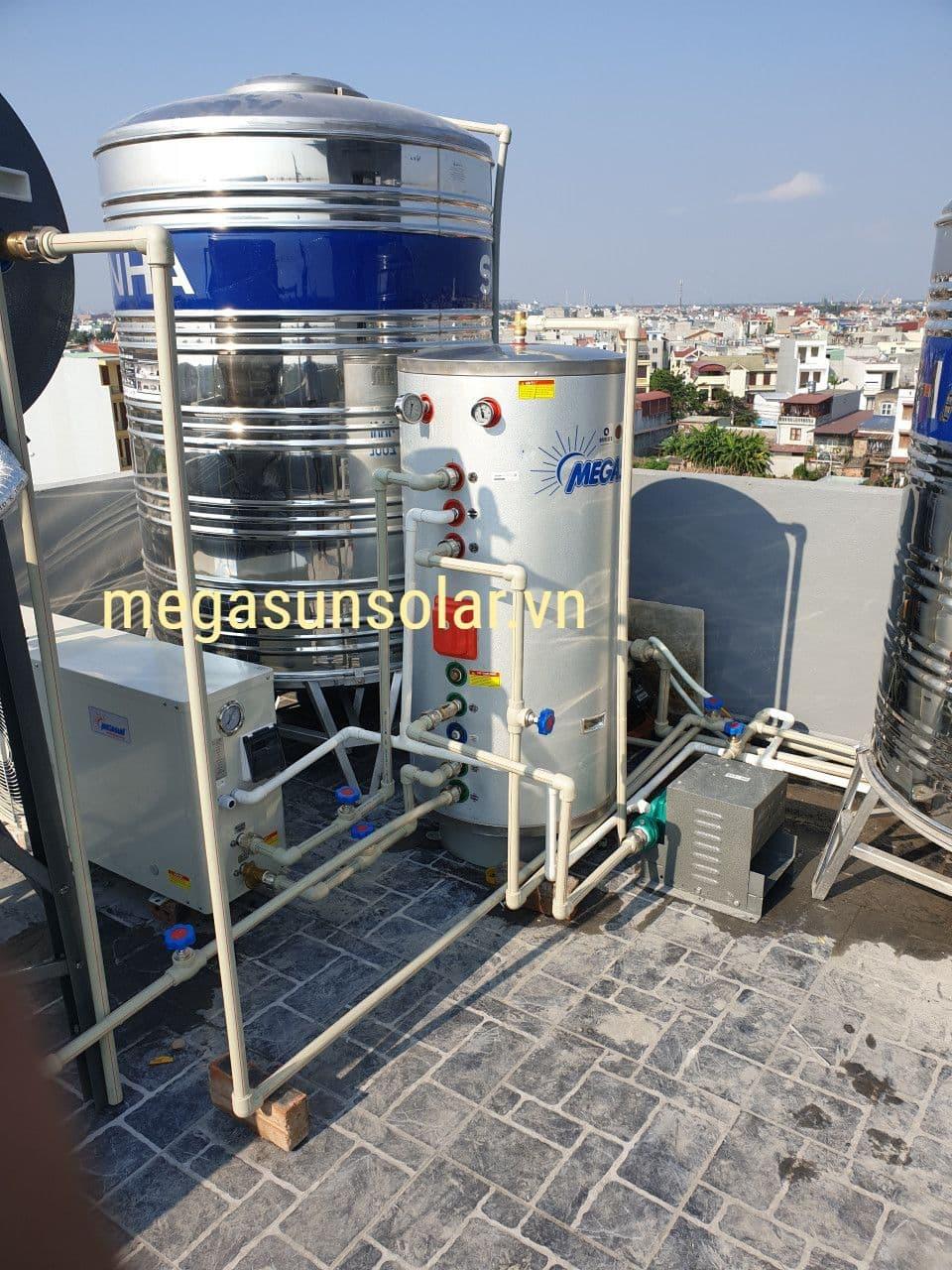 Bơm nhiệt Megasun tại biệt thự đông hải