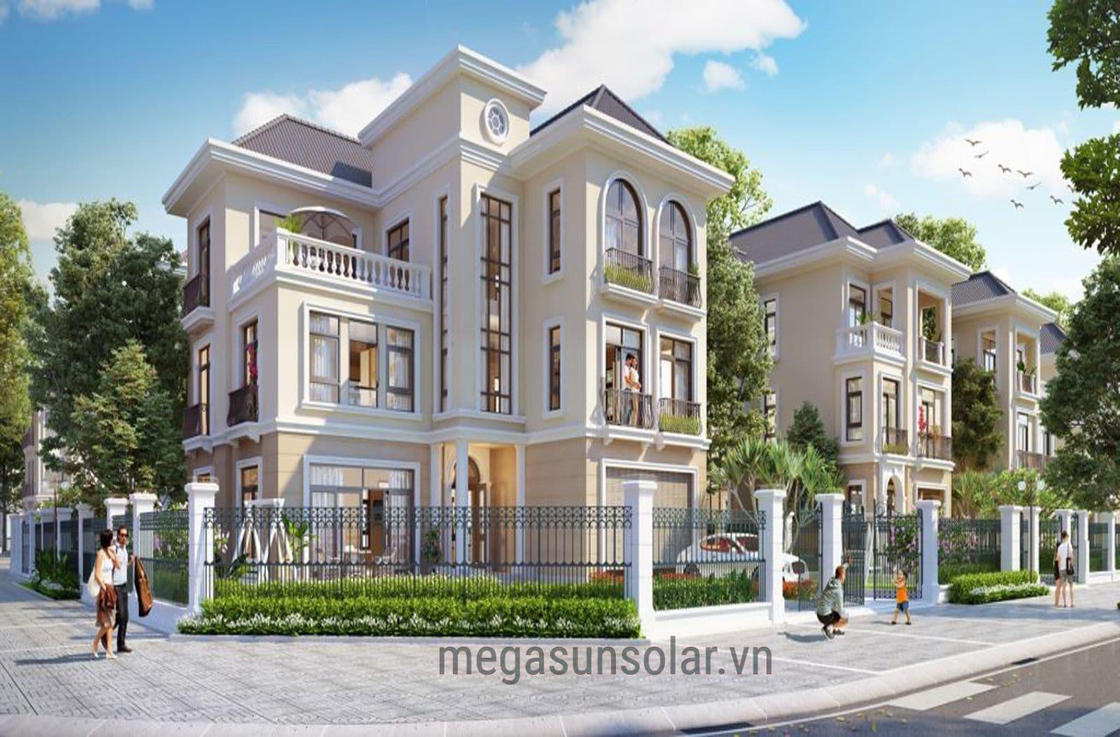 dự án Megasun tại biệt thự căn mộc lan ML5 09 vinhomes greenbay