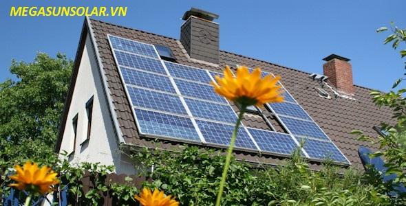 Điện năng lượng mặt trời cho gia đình hòa lưới Megasun