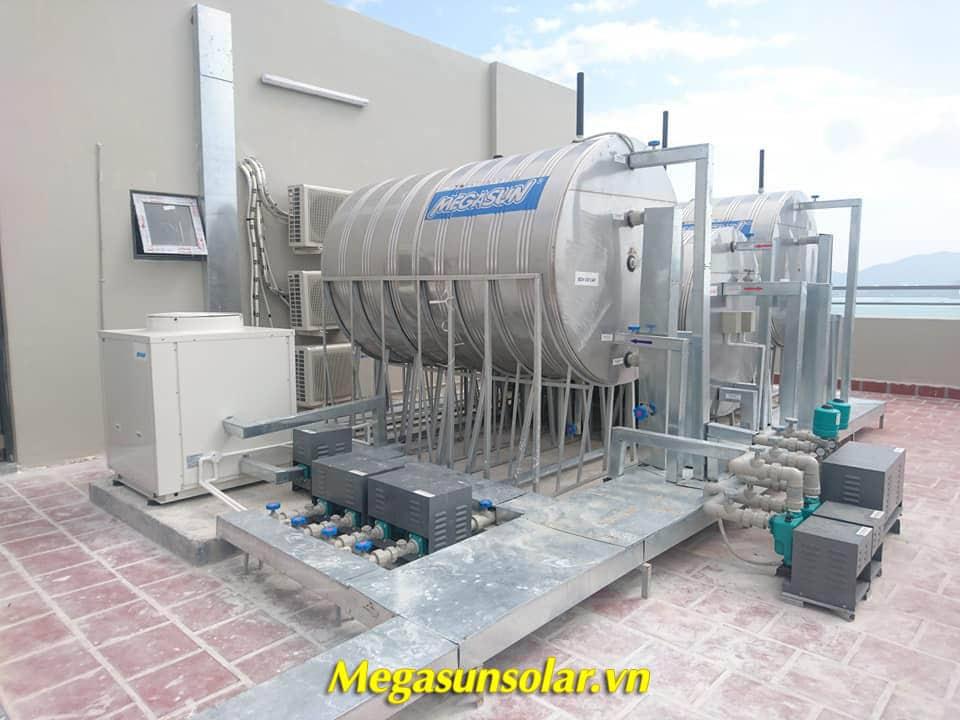hệ thống bơm nhiệt Megasun tiết kiệm 80% điện năng tiêu thụ