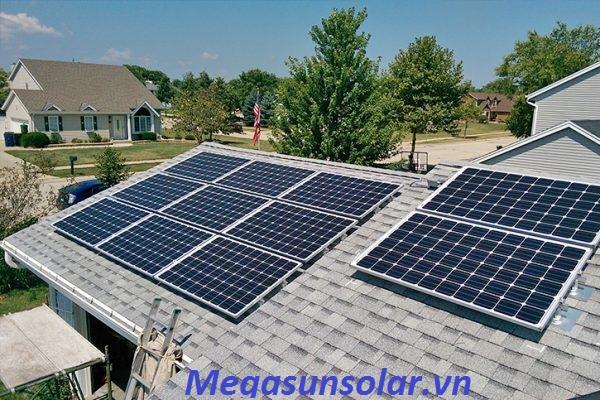 Điện năng lượng mặt trời cho gia đình 1kwp
