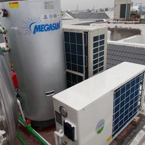 Hệ thống nước nóng trung tâm gia đình Megasun MGS-1HP-150L