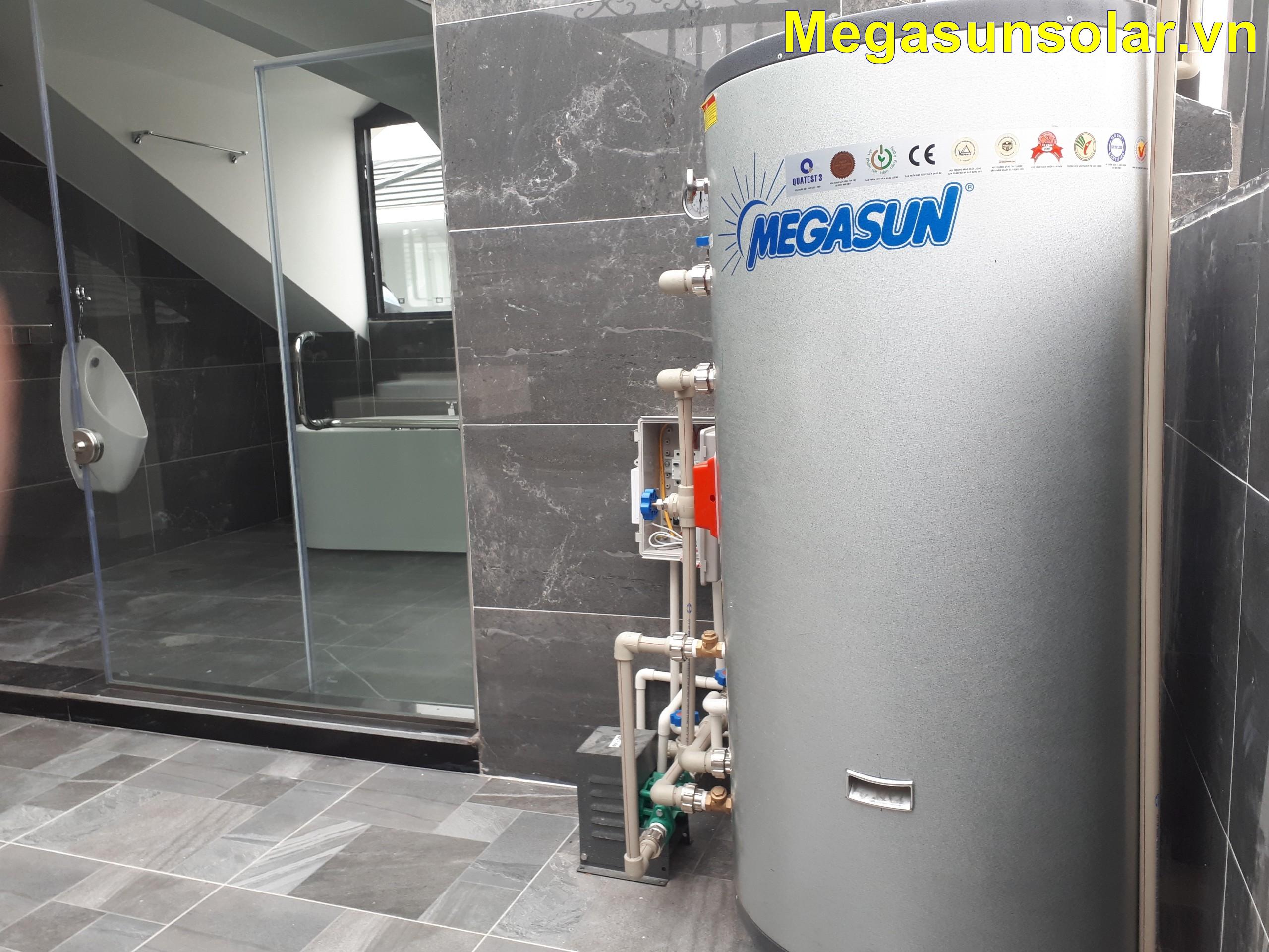 Máy nước nóng bơm nhiệt cho gia đình Megasun MGS-2HP-400L lắp đặt tại Vinhome Greenbay