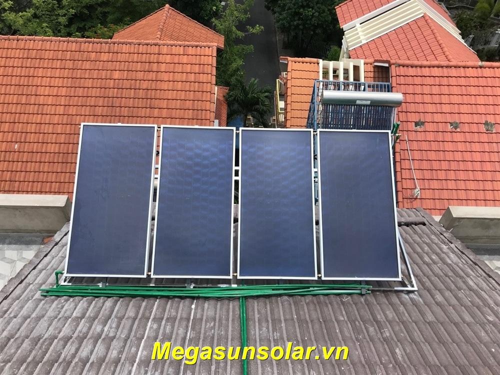 Máy nước nóng năng lượng mặt trời chịu áp lực dạng tấm phẳng Megasun