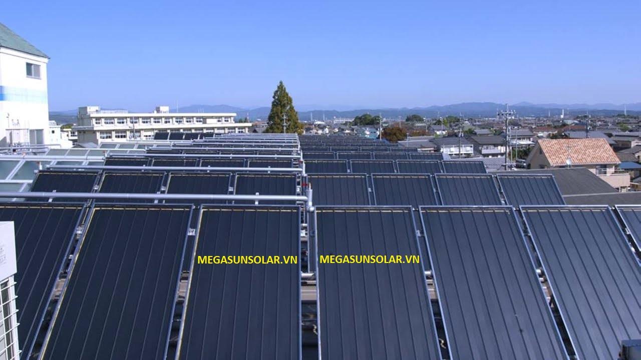 Hệ thống nước nóng năng lượng mặt trời công nghiệp tấm phẳng