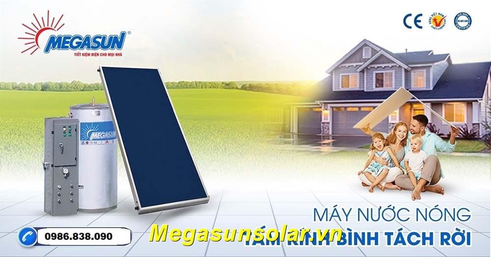 Kết hợp với với máy nước nóng năng lượng mặt trời Megasun