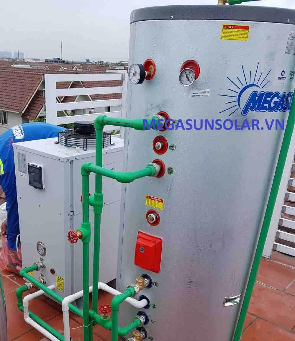 Máy nước nóng năng lượng không khí bơm nhiệt Megasun