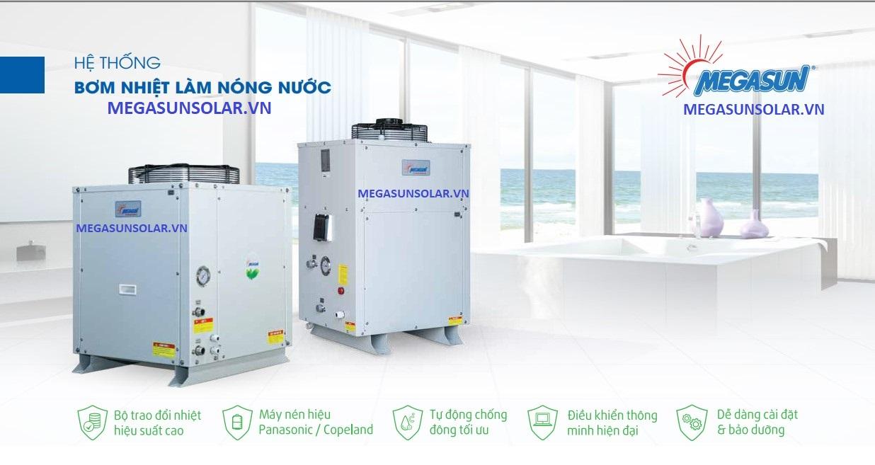 Nước nóng tổng bơm nhiệt heat pump Megasun