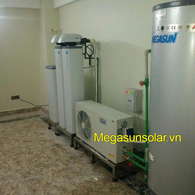 Hình ảnh thực tế của dự án bơm nhiệt Megasun tại Căn Nguyệt Quế NQ Vinhomes