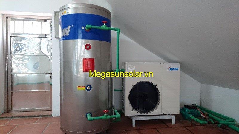 Hệ thống nước nóng bơm nhiệt bình tách rời và bồn bảo ôn 200L