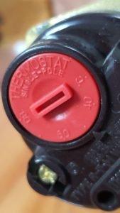 điện trở gia nhiệt heater có núm điều chỉnh nhiệt độ 2KW