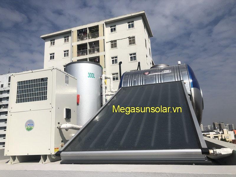 tấm phẳng thu năng lượng mặt trời kết hợp bồn bảo ôn