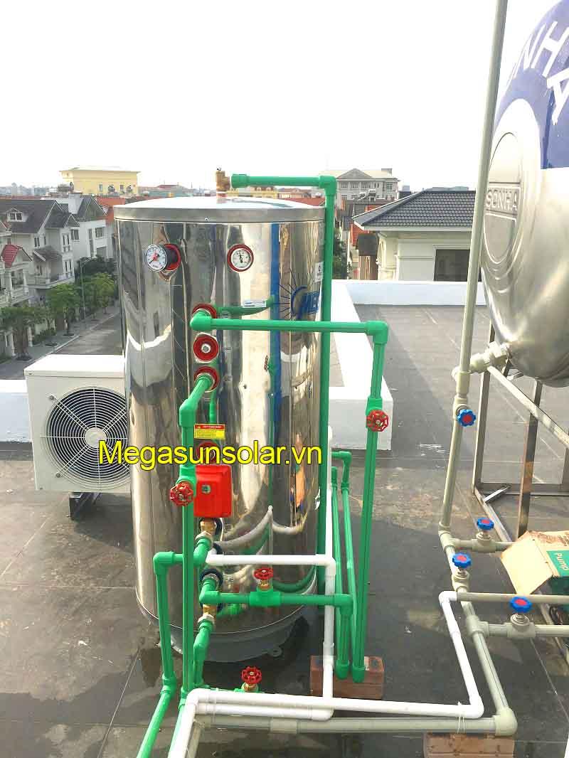 Hệ thống nước nóng năng lượng mặt trời kết hợp bơm nhiệt Megasun đạt chuẩn chất lượng Châu Âu