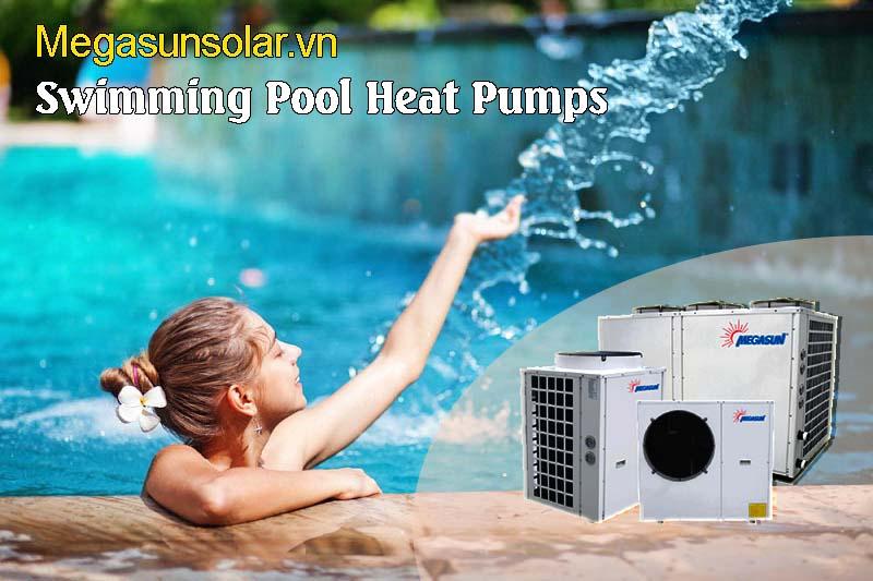 Bơm nhiệt bể bơi - máy nước nóng bể bơi Megasun MGS-10HP-S