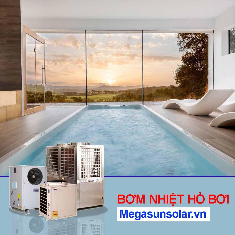 Máy làm nóng nước bể bơi - bơm nhiệt cho bể bơi