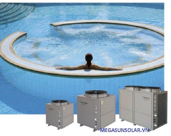 Hệ thống cấp nước nóng cho bể bơi - pool heat pump Megasun MGS-12HP-S