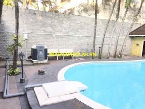 Bể bơi nước nóng sử dụng máy gia nhiệt bơm nhiệt Nirvana F65