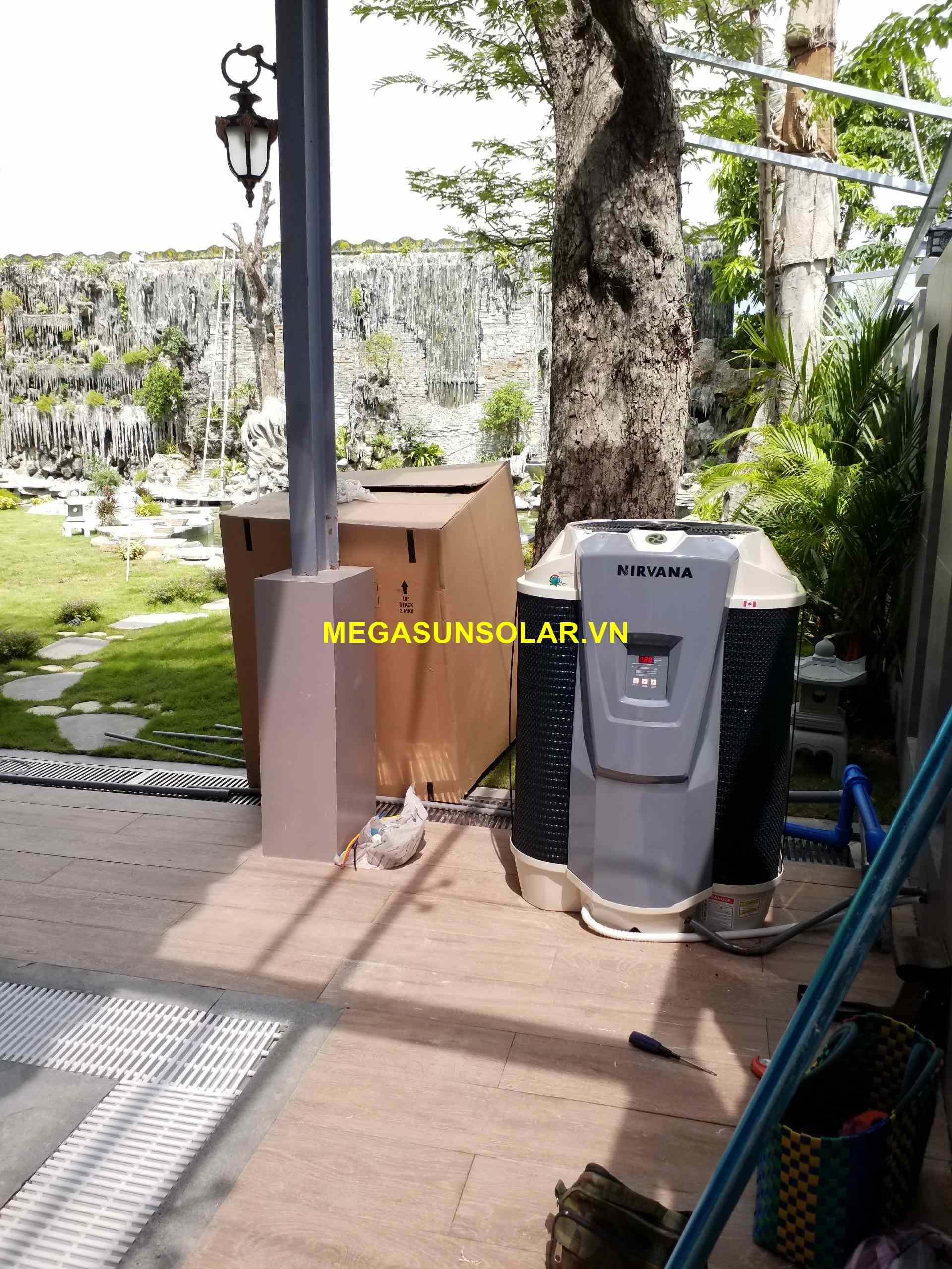 Bơm nhiệt Heat Pump Nirvana F65 làm nóng nước cho hồ bơi