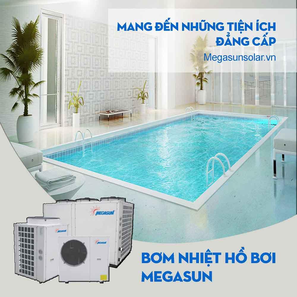 Máy bơm nhiệt cho bể bơi - công nghệ bể bơi nước nóng Megasun MGS-30HP-S