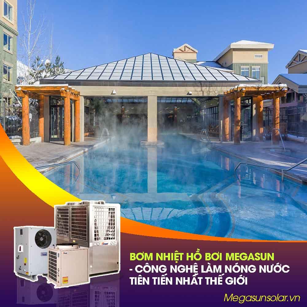 Máy nước nóng dùng cho hồ bơi - bơm nhiệt hồ bơi Megasun MGS-35HP-S