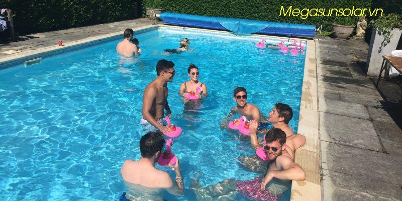 Máy nước nóng dùng cho hồ bơi - bơm nhiệt hồ bơi Megasun