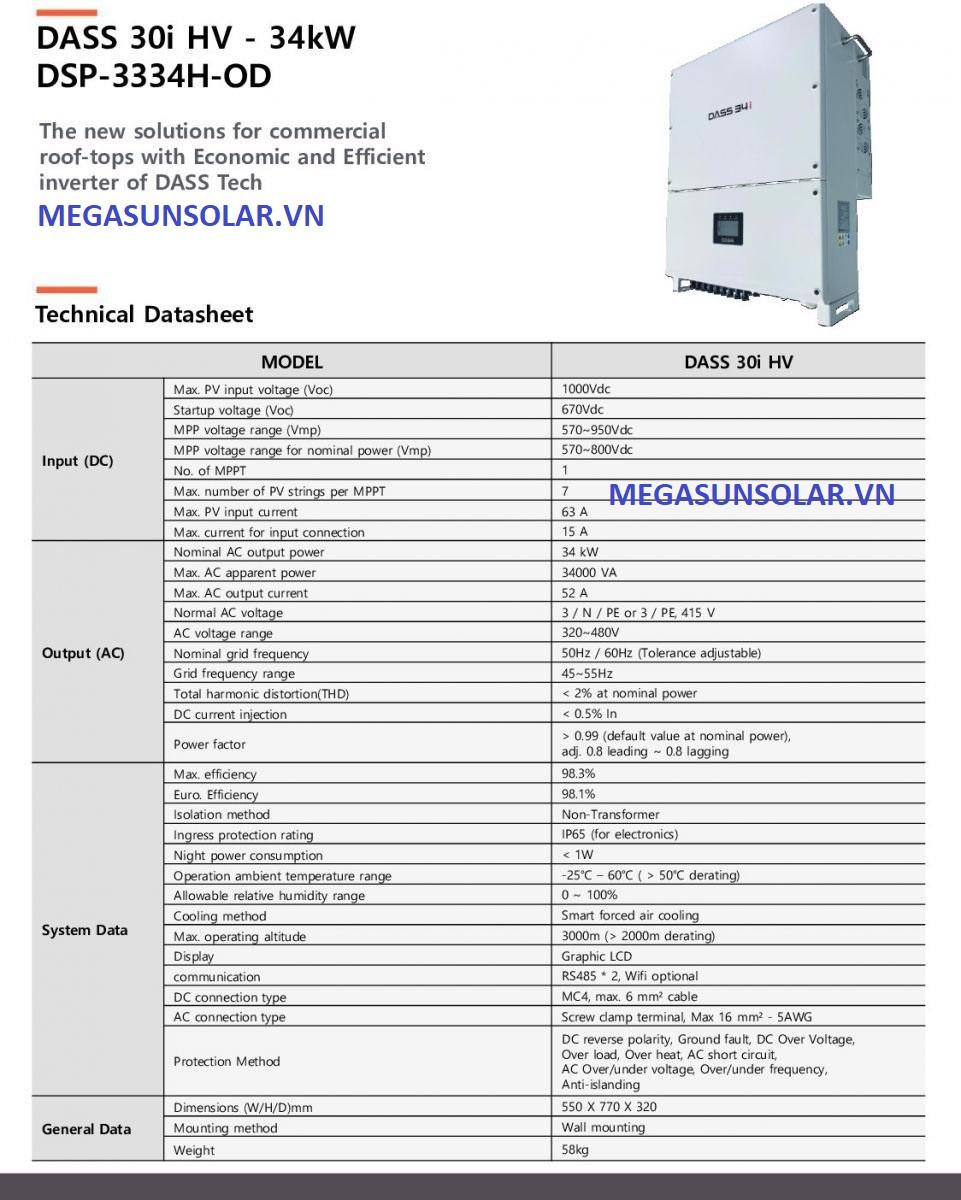 bộ biến tần chuyển đổi điện INVERTER 34kw- Dass